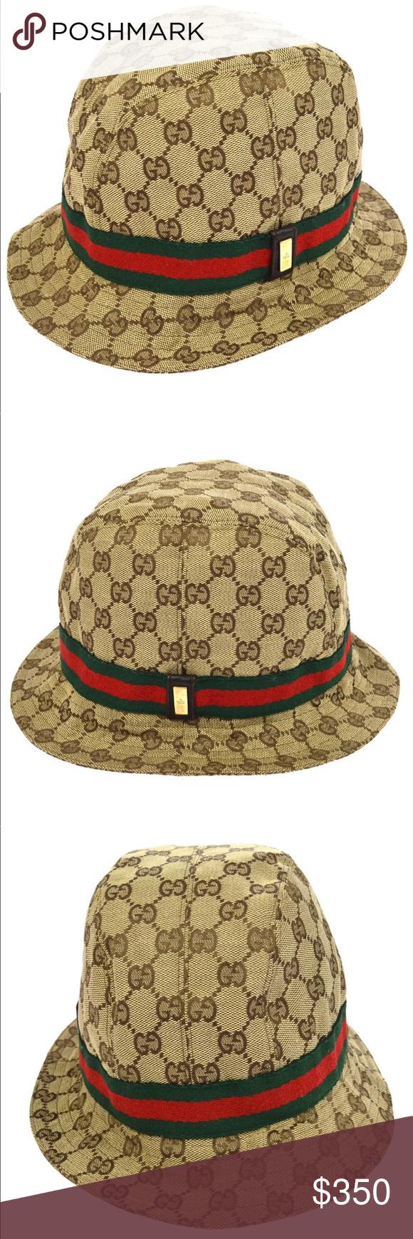Gucci Logo Pattern Ladies Hat Medium Size Hats For Women Gucci Logo Pattern