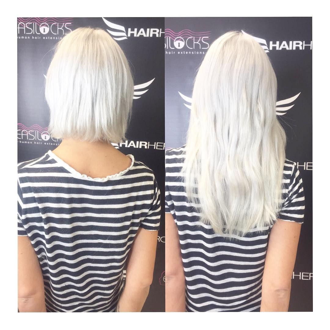 Lou Teasdale Easilocks Extensions Ice Blonde Hair Goals