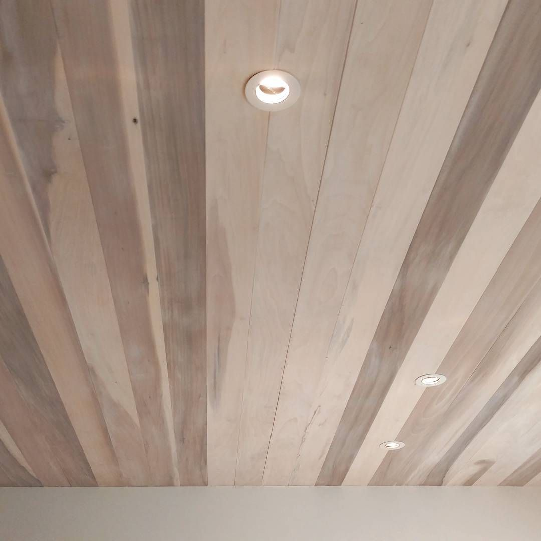 I Love This Whitewash Poplar Ceiling
