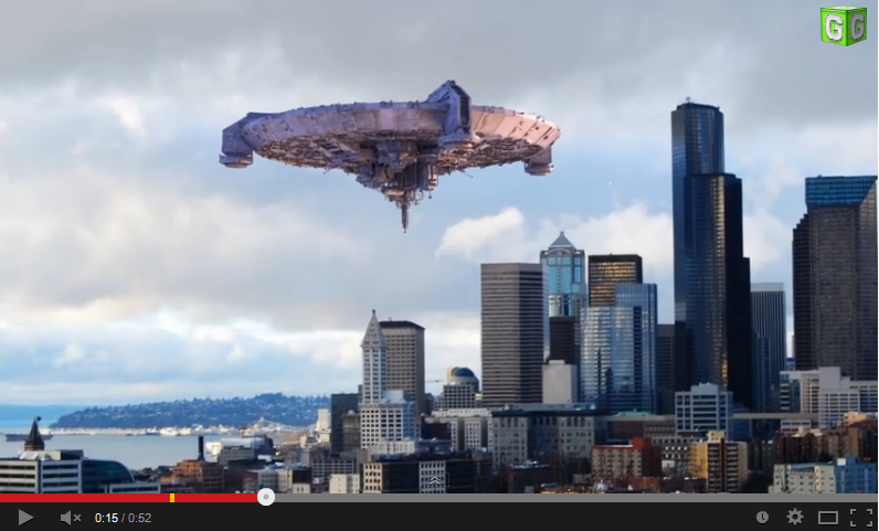 Alien Invasion Hitting Seattle Right Now Rizal Park Skyline Seattle Skyline