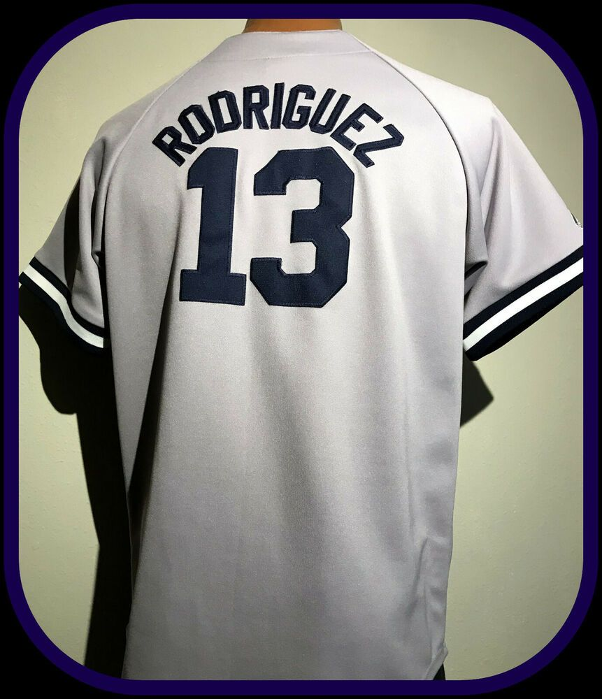 New York Yankees Alex Rodriguez Majestic Youth Xlarge Stitched Gray Away Jersey Majestic Newyorkyankees In 2020 With Images New York Yankees Gray Away Baseball Outfit