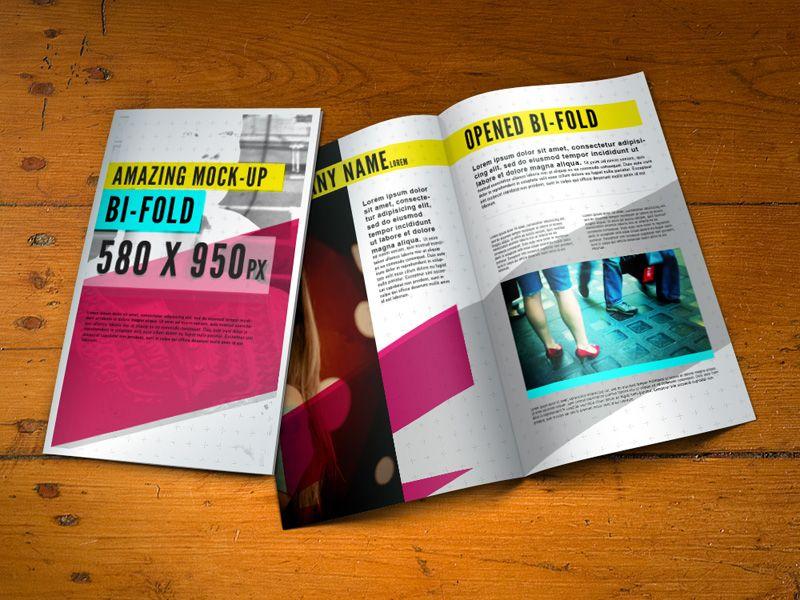 Free Bifold Brochure Mock Up Brochure Designs Pinterest