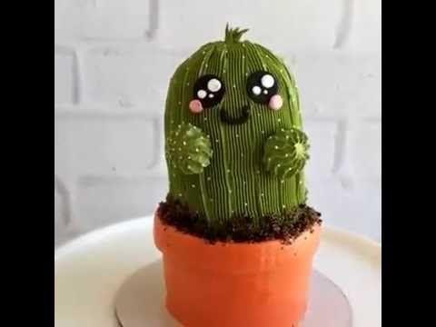 This tiny cactus cake is amazing - YouTube