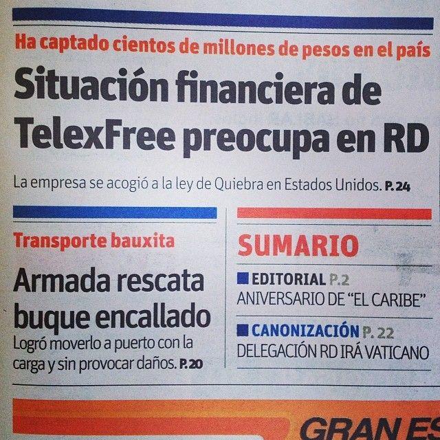 Situación financiera de #TelexFree preocupa en #RepublicaDominicana #Ponzi #Estafa http://instagram.com/p/m0elnMBA84/