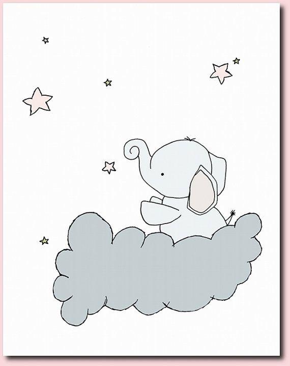 Elefante vivero arteVivero Decor Set de 4 | bebe | Pinterest ...
