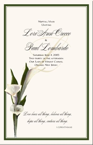 Calla Lily Wedding Theme Fl Stationery Designs Table Numbers Place Cards Programs Menu