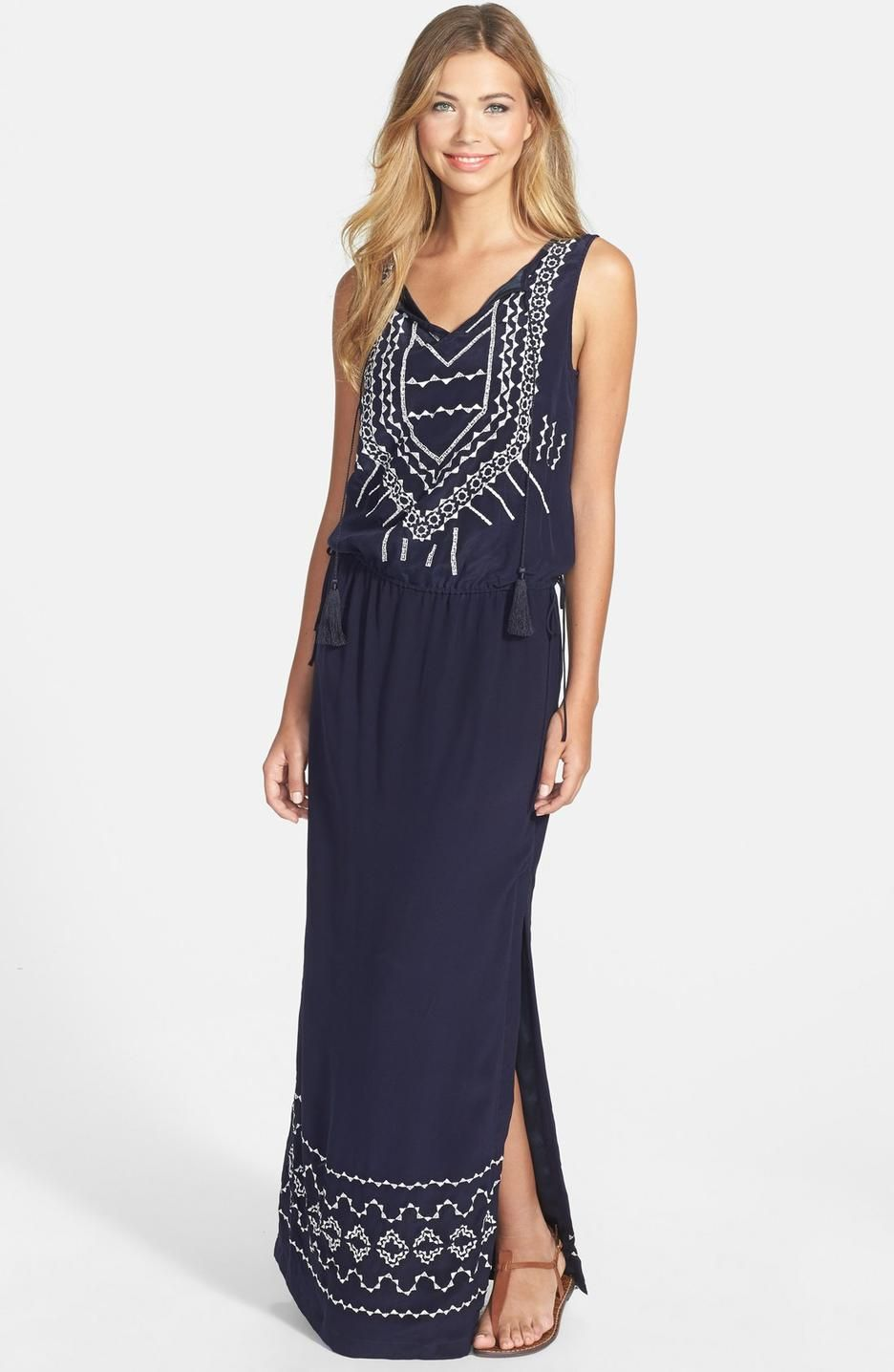 navy-nicole-miller-embroidered-silk-maxi-dress-