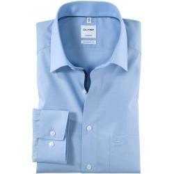 Olymp Tendenz Hemd, modern fit, New Kent, Bleu, 44 Olymp