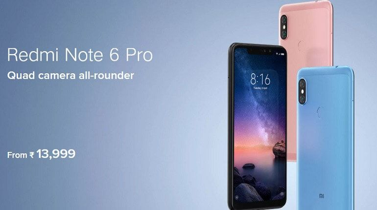 Redmi Note 6 Pro Camera Samsung Galaxy Phone Quad