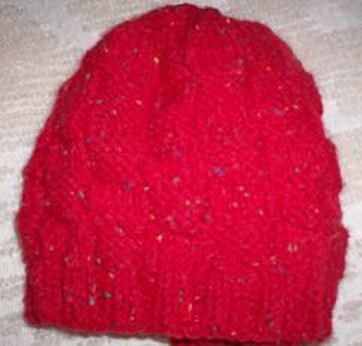 830baefcf72 Box Stitch Knit Hat Pattern