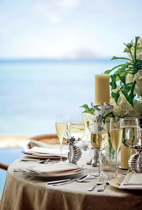 Brides Nautical Destination Wedding Decor Light Hues Are A Natural Palette For Beach