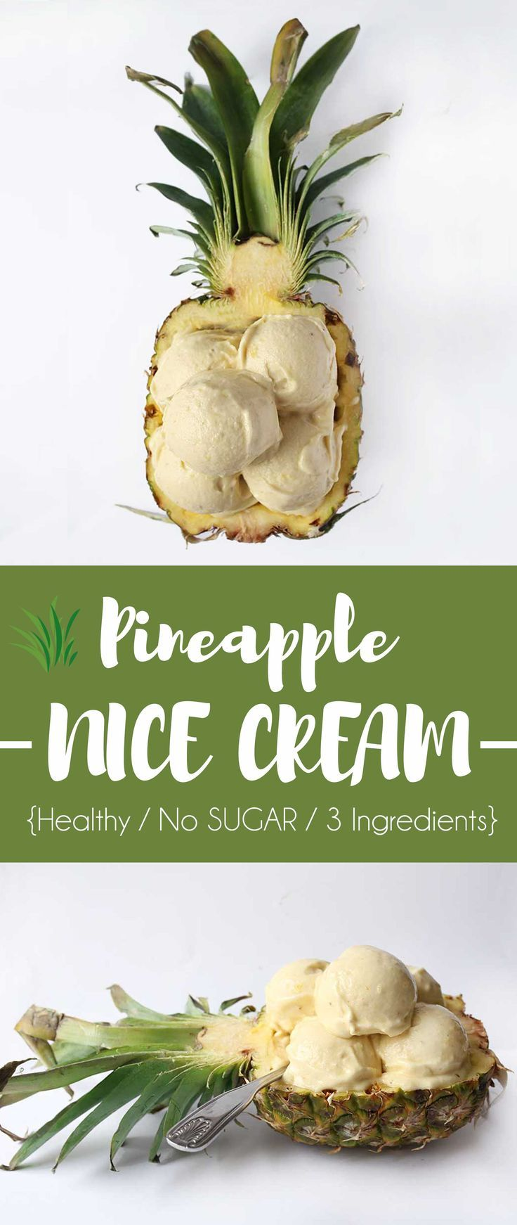 Healthy Pineapple Banana Ice Cream