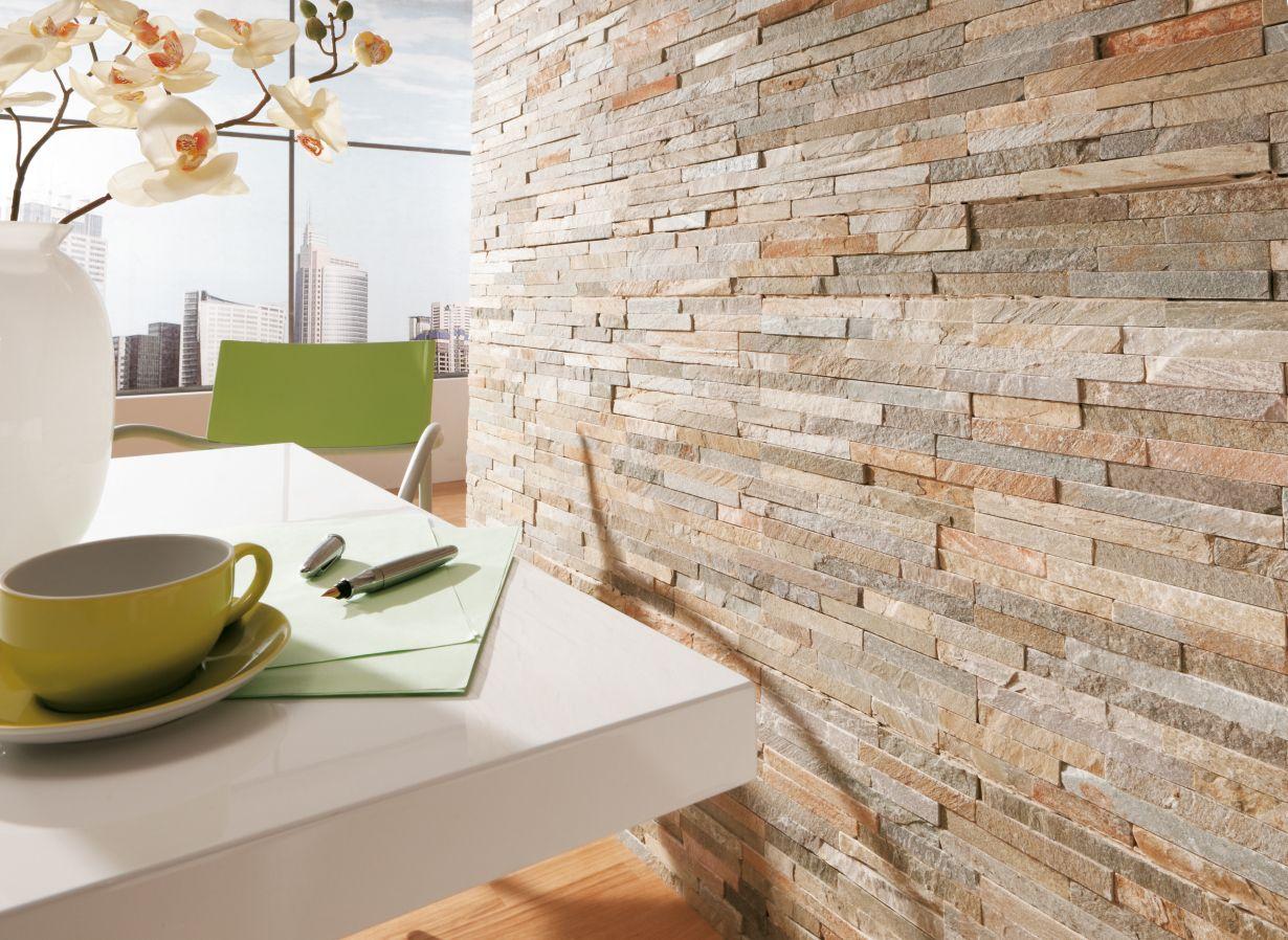 Steinwand Küche  Neu: Wandfarben Trends ♥ Wandfarben-ideen