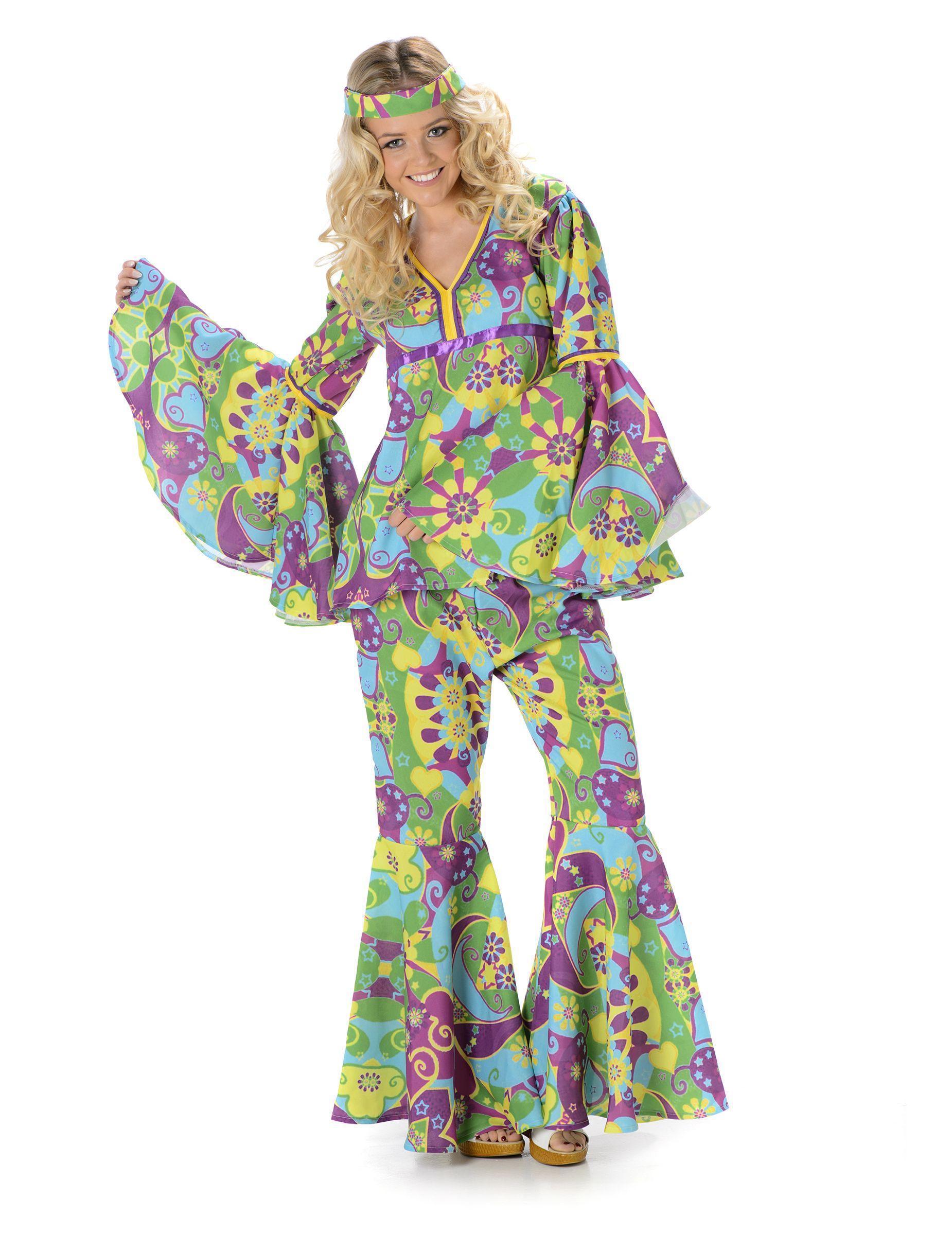 Déguisement hippie fleurs femme   Ce déguisement est composé d une tunique,  d  ad28720eabc7