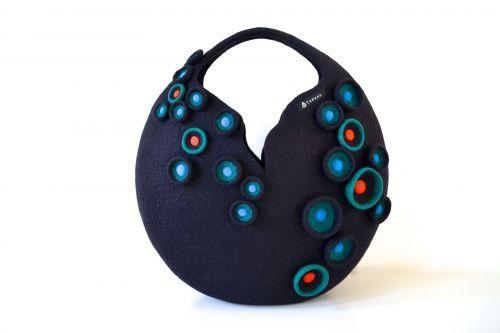 Дизайнерские сумки из фетра от японской рукодельницы