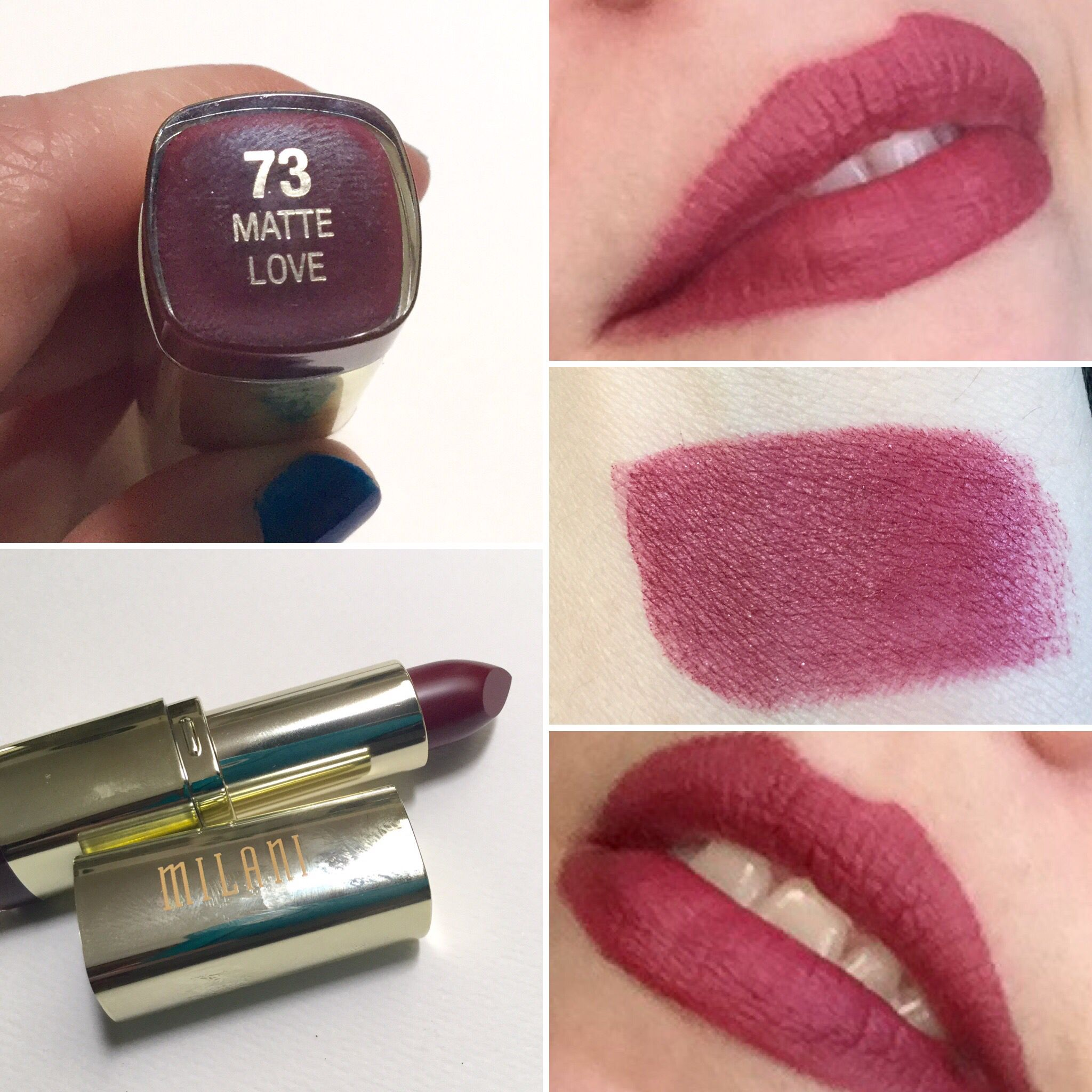 Milani Matte Love lipstick. So patchy! | My Lipstick Swatches ...