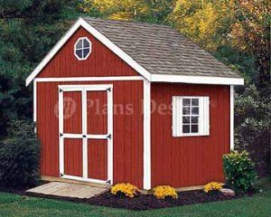 Perfect 10u0027 X 10u0027 Gable Garden Storage Shed Plans, Design #21010