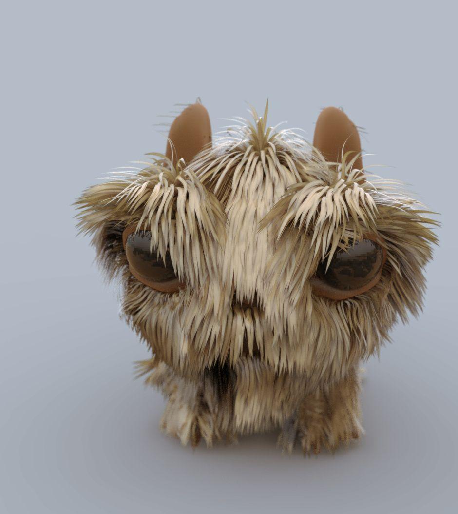 CGTalk - Little Fur Ball, Carl Stromberg (3D)