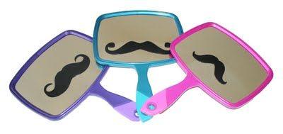 Mustache Mirrors. #Mustache, #Mirror, #DIY
