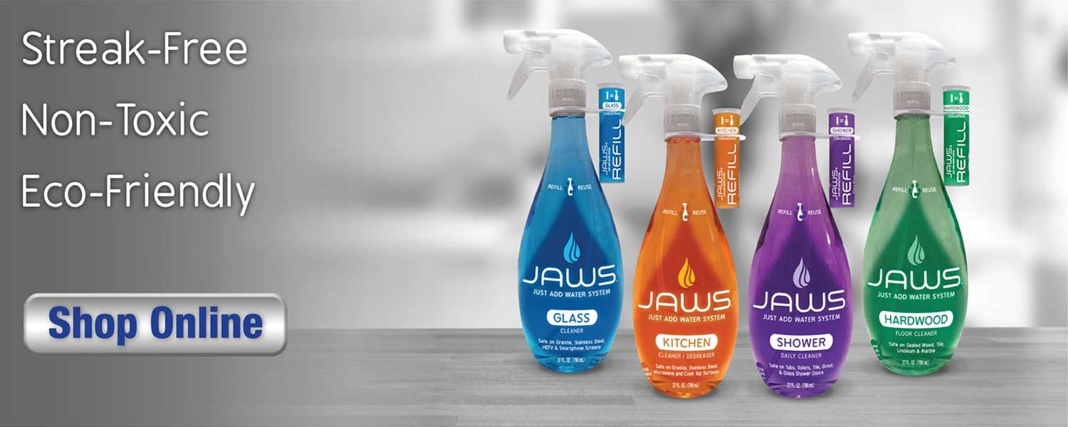 Jaws cleaners are nontoxic ecofriendly and help save you money
