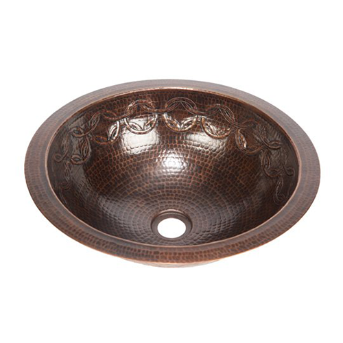 17 Round Copper Bathroom Sink W Joining Rings By Soluna Copper