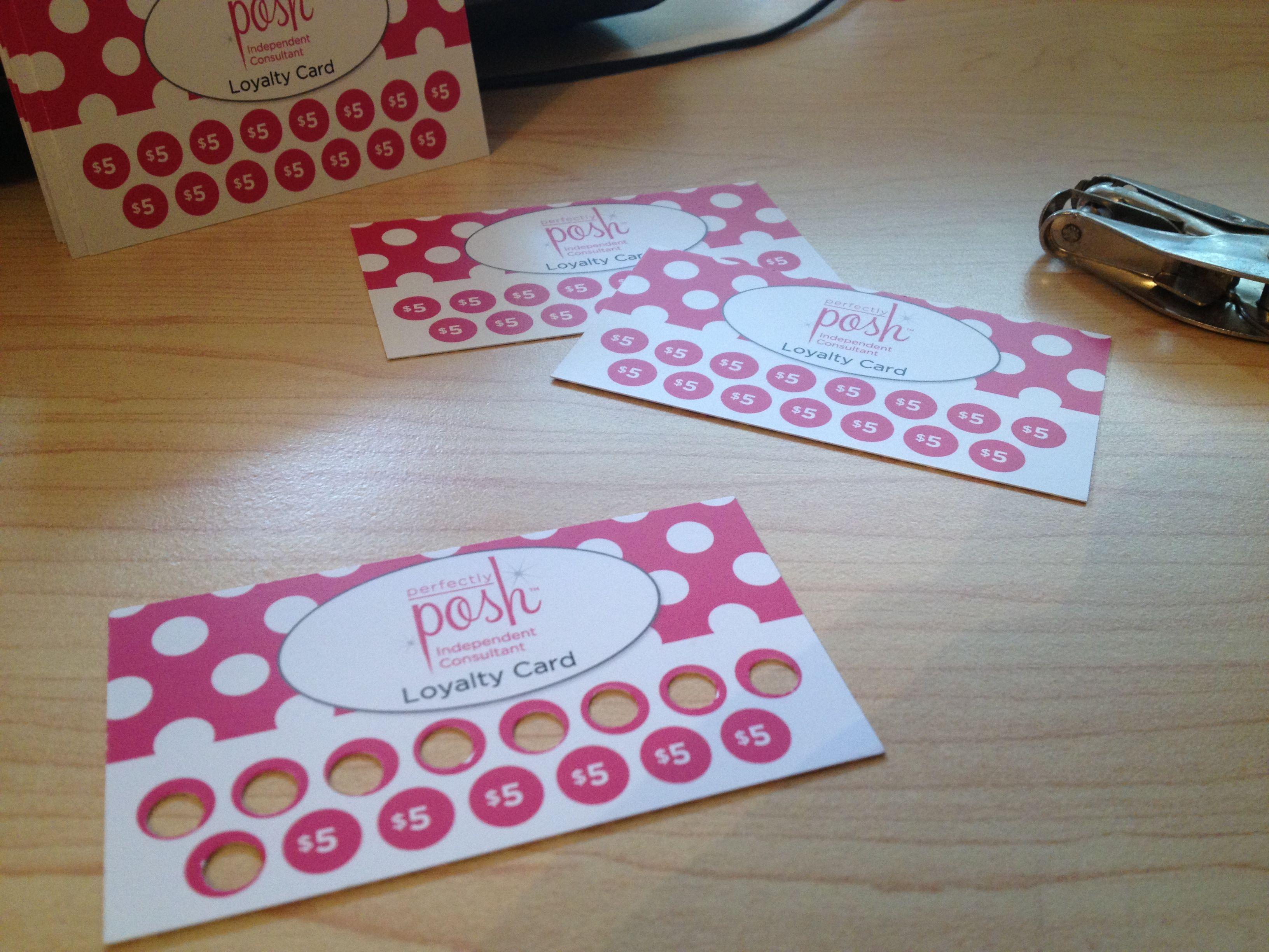 Announcing my new Customer Loyalty Card program! | Perfectly Posh ...