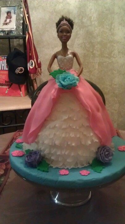 Princess cake I made for my daughter's 4th birthday.