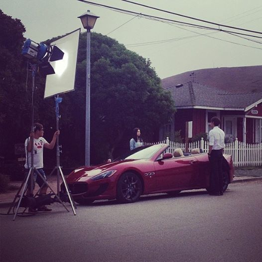 Park Shin Hye & Lee MinHo filming 'HEIRS' in LA, California!!! How I wish I can see them!
