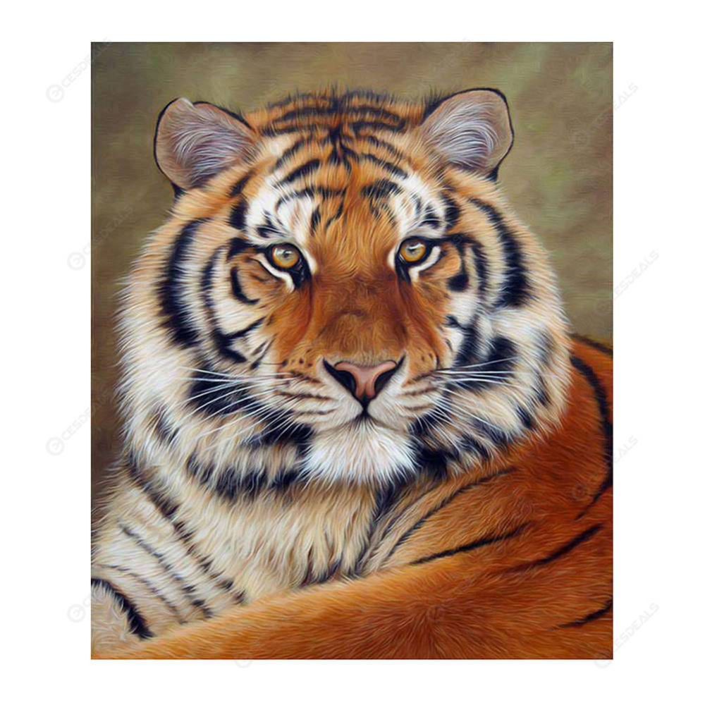 DIY 5D Diamond Painting Cross Stitch Kits Tiger/&Wolf Pictures Mosaic Crafts