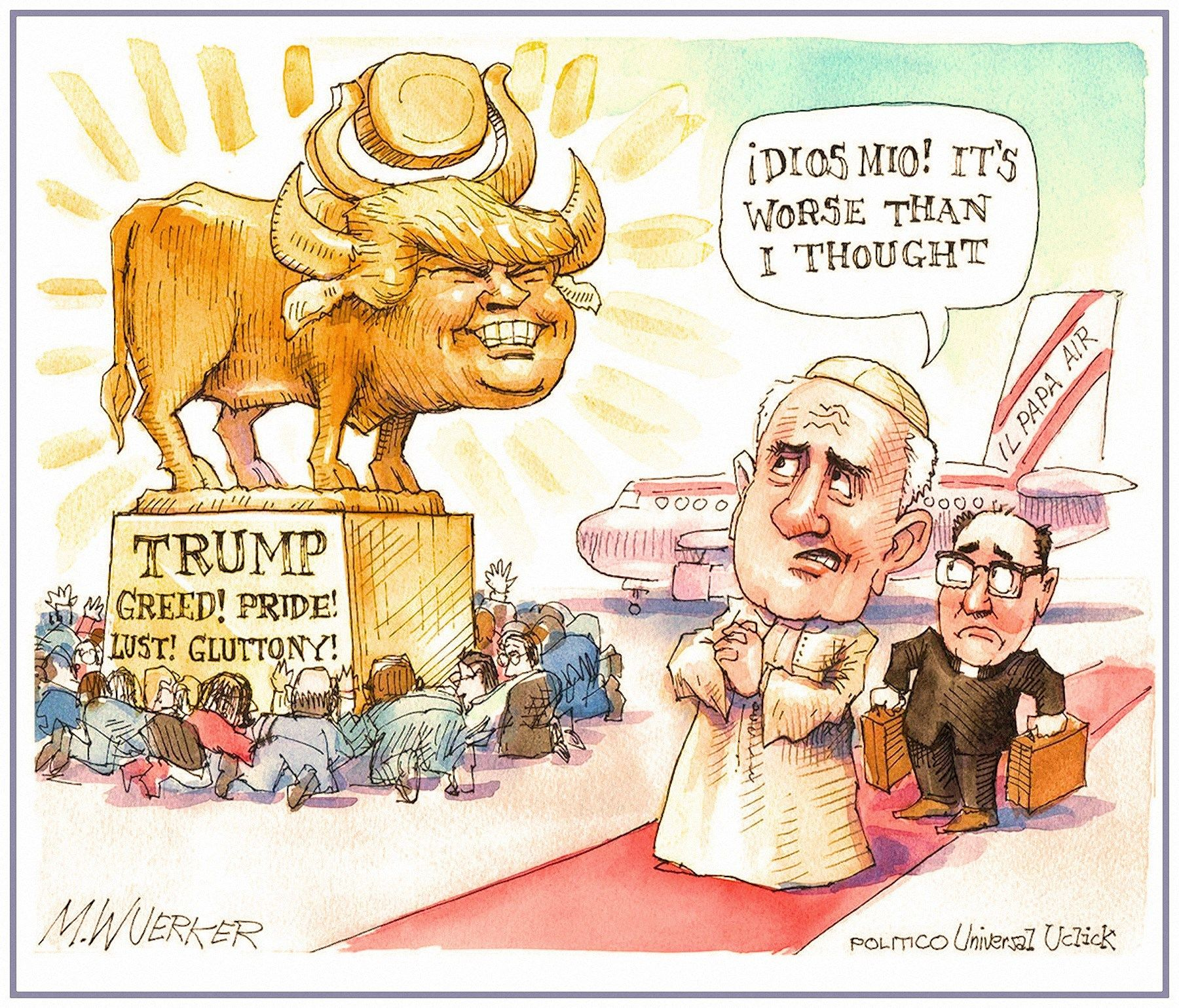 Free coloring page golden calf - Two Versions Of The Trump Golden Calf