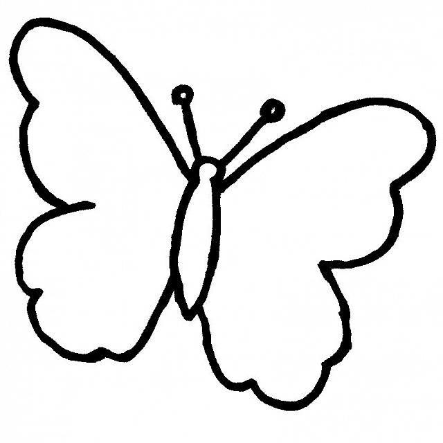 Disegno Da Colorare Facile Per Bambini Una Farfalla Varie Rock