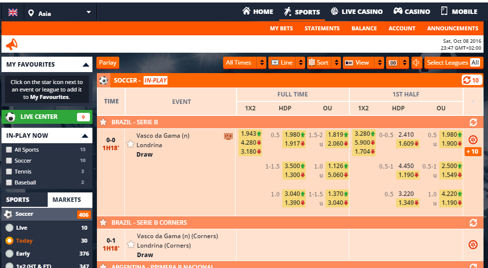 Asia betting legit online sports betting