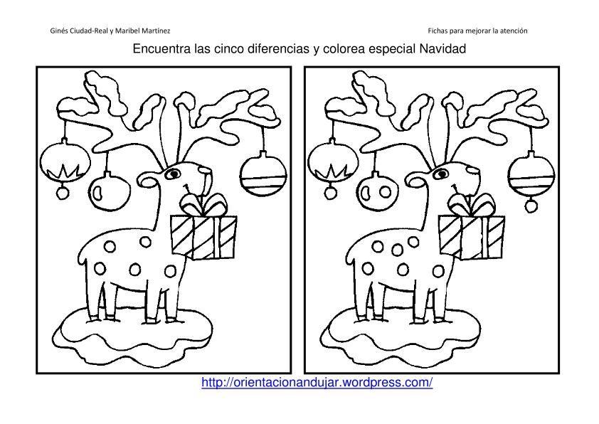 Encuentra Las 5 Diferencias Y Colorea Logica I