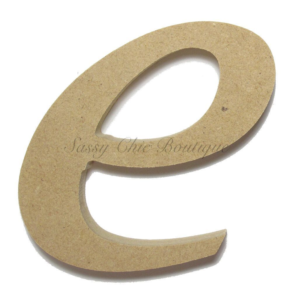 unfinished wooden letter lowercase