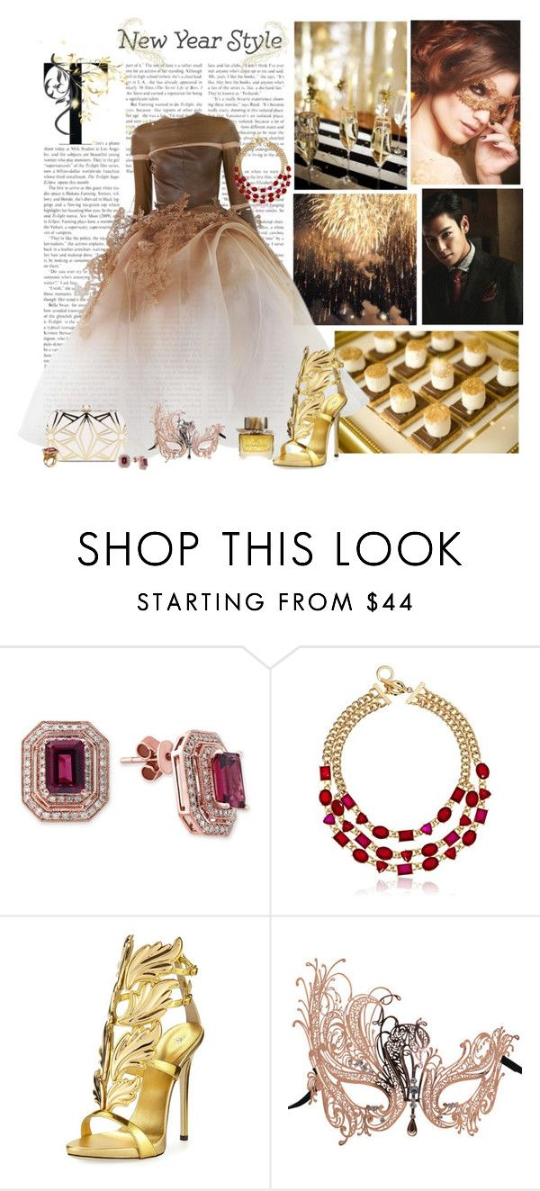 """""""Happy New Year"""" by nikol128 ❤ liked on Polyvore featuring Stephane Rolland, Effy Jewelry, Anne Klein, Giuseppe Zanotti and Masquerade"""