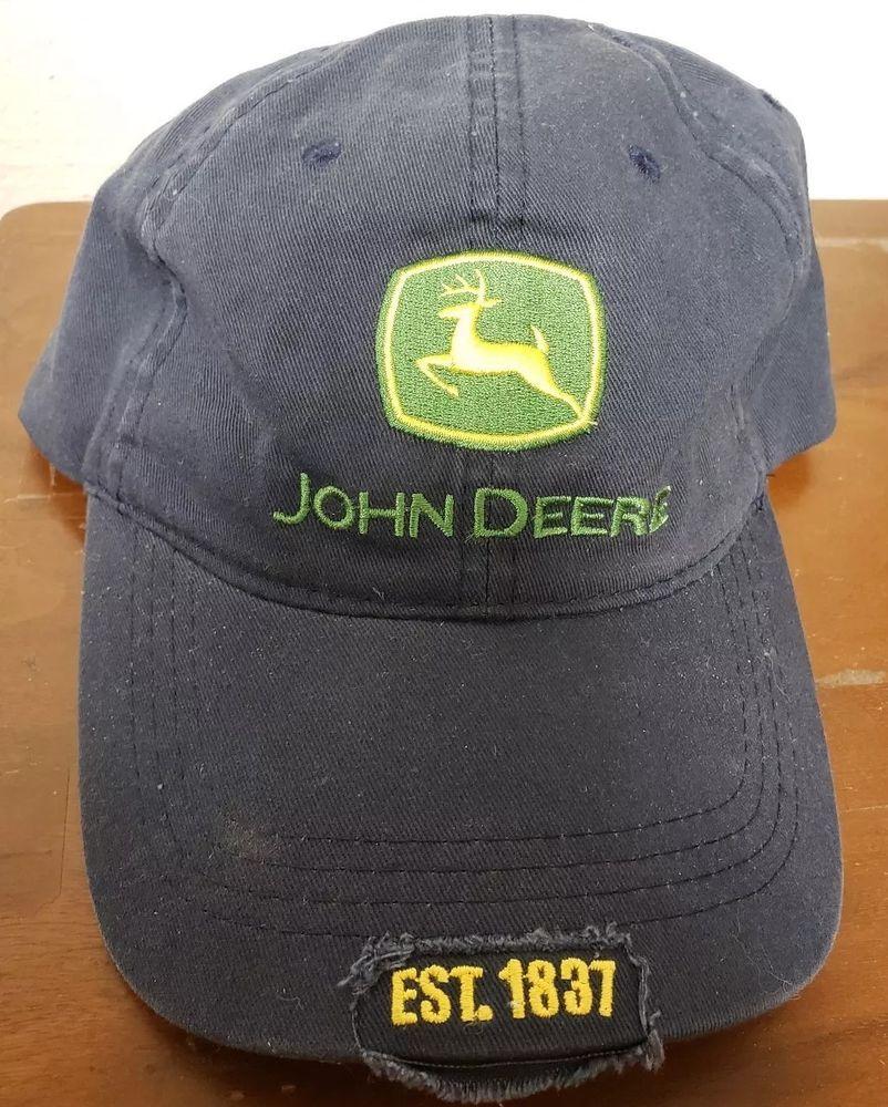 NEW John Deere Est. 1837 Strapback Hat Navy Dad Cap NWT  fashion  clothing   shoes  accessories  mensaccessories  hats (ebay link) 1378b4b5c86
