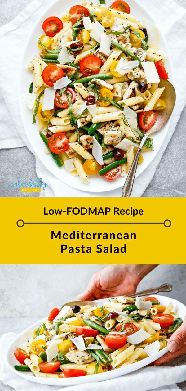 Photo of Mediterraner Nudelsalat (Low-FODMAP, glutenfreies Rezept) IBS Health Coaching und FODMAP Diet Recipes | Ruhige Bauchküche