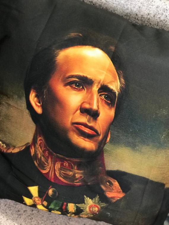 Nicolas Cage Pillow Cover With ZipperImage on both sides