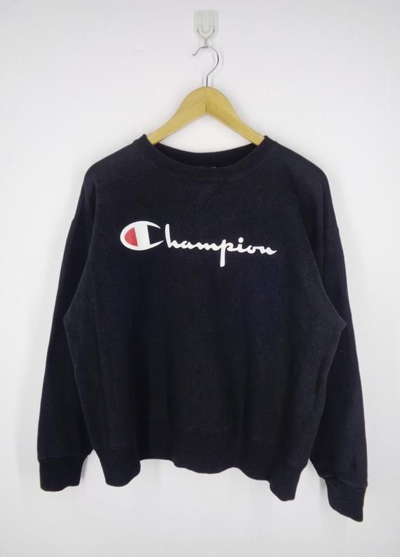 fa5c589cfe792 Champion Sweatshirt Vintage 90 s Champion Big Logo Champion Pullover  Crewneck Sweater Champion Activ
