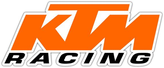 Ktm racing vinyl sticker decal can be placed on any smooth surface notebook window car bumper wall decor size 7x3