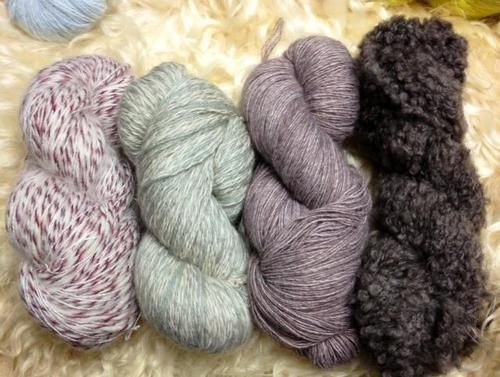 Austin's Mohair LLC has rare home spun, soft, inexpensive luxury yarns. Small family business. Yummy.