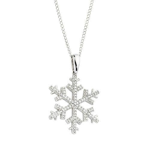 370bd0a177 0.20 CARAT TW DIAMOND SNOWFLAKE PENDANT | Michael Hill | snowflakes ...