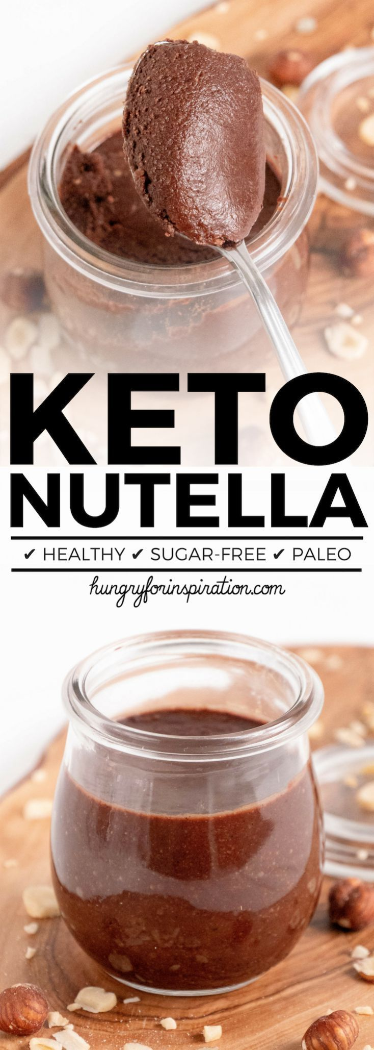 This Healthy & Easy Low Carb Hazelnut Spread (Keto Nutella) is the perfect addition to the ketogenic diet! It's easy to make & tastes amazing with Low Carb Pancakes! Easy Keto Dessert (Low Carb Desserts) that's Paleo & Vegan! #keto #ketodiet #ketorecipes #ketogenic #ketogenicdiet #ketodessert #lowcarb #lowcarbrecipes #lowcarbdiet #lowcarbdessert #ketodessert