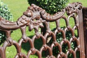 Brown Ornate Garden Bench