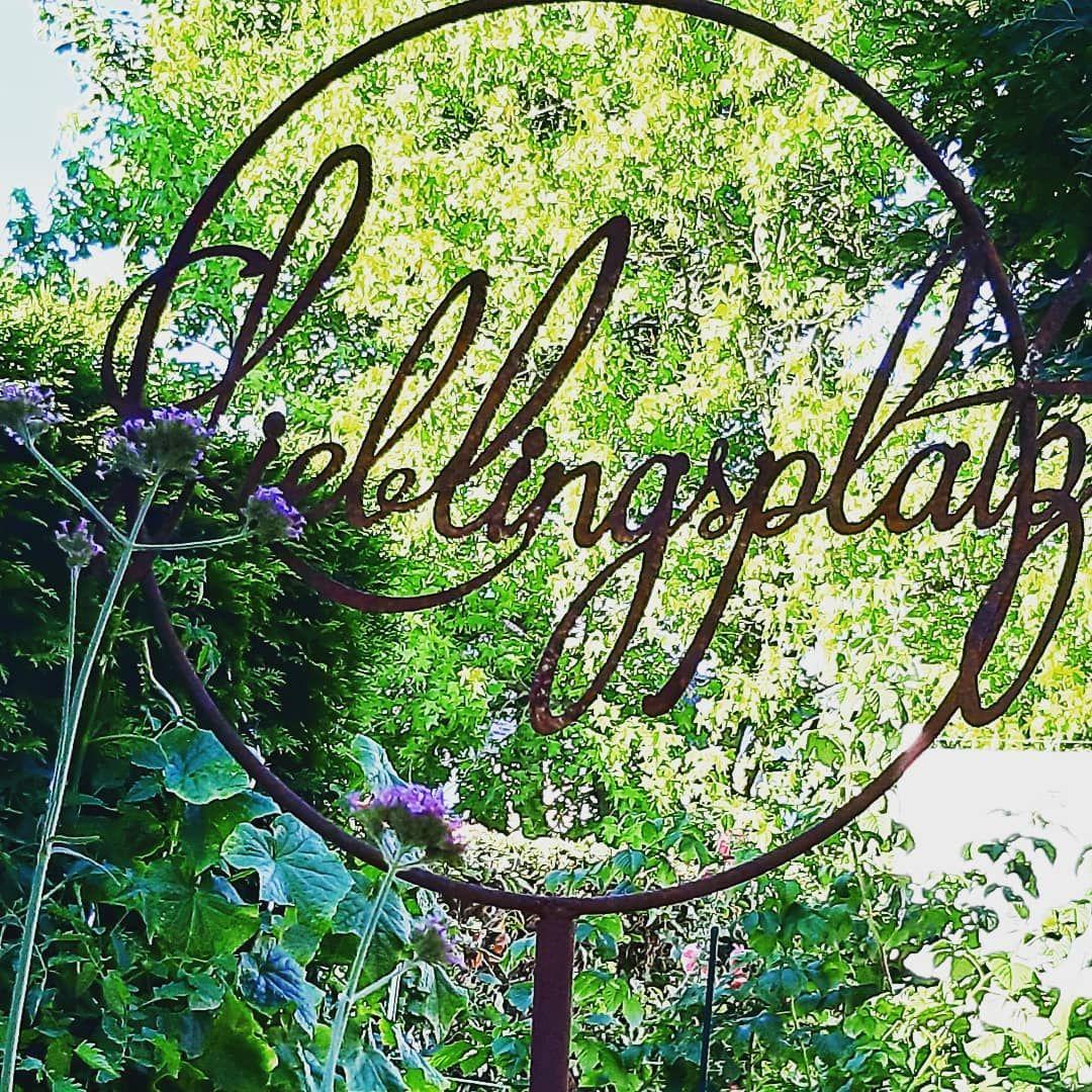 Lieblingsplatz Lieblungsplatz Rost Verbenen Garten Gartendeko Garten Deko Rost Deko Garten Gartendeko Modern