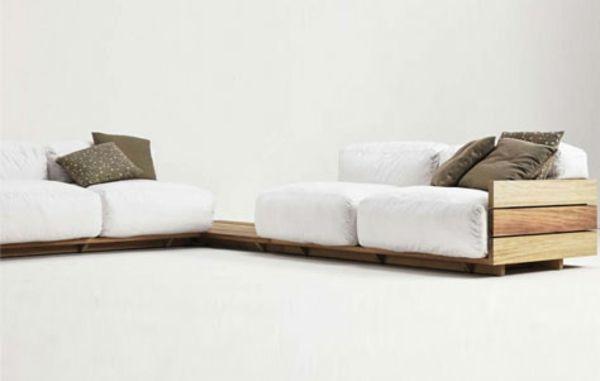 Moderne möbel aus holz  moderne Holz Paletten Möbel Sofa Tisch Kombination | zuhause ...