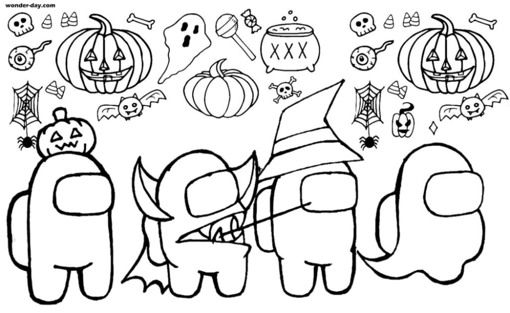 18++ Coloring pages among us coloring pages info