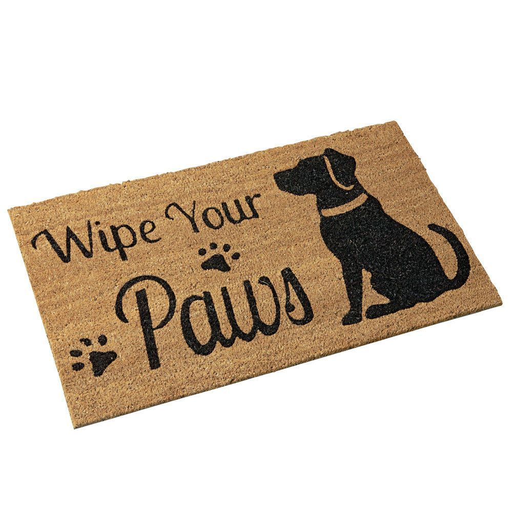 Wipe Your Paw Door Mat Mats Pinterest Dogs Dog Door Mat And