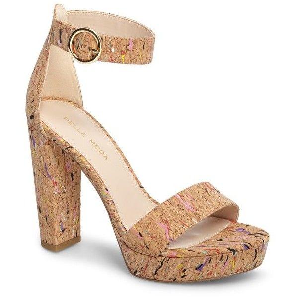 Pelle Moda Palo2 Multi Cork Ankle Strap Dress Sandals YQm3pN