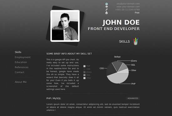 20 Free Premium Wordpress Resume CV Themes Resume cv and Wordpress
